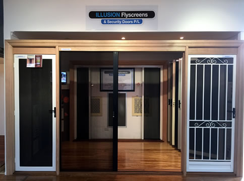 Flyscreen and security door showrooms illusion for Home ideas centre oakleigh